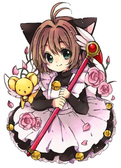 Cardcaptor Sakura Chibi - Kinomoto Sakura and Kero-chan