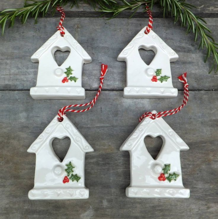 Christmas Decorations Made From Clay : Best ceramic christmas decorations ideas on