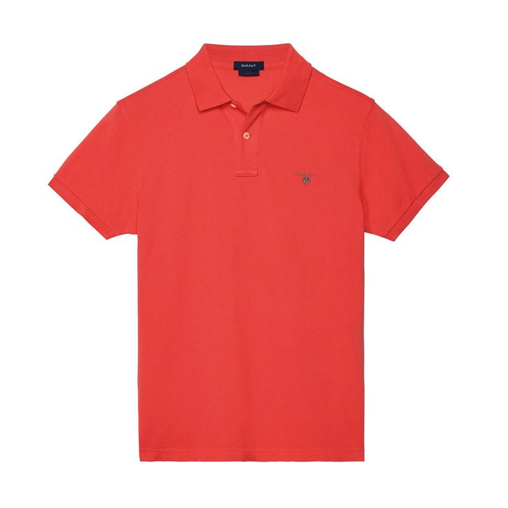 Gant Polo GANT SOLID Red T-Shirt - 7 #GantPolo