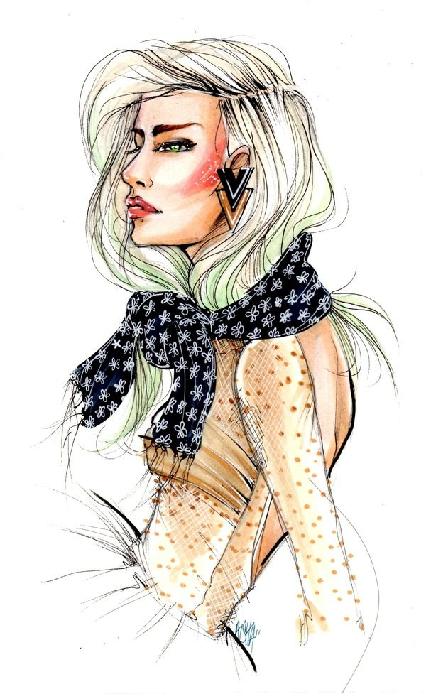 fashion illustration with copic markers | Fashion Illustration '09-'11 on Behance