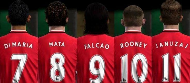 This year, for the first time in a long time, No.7-11 are all occupied by top quality players at United. Angel di Maria, Juan Mata, Radamel Falcao, Wayne Rooney and Adnan Januzaj.