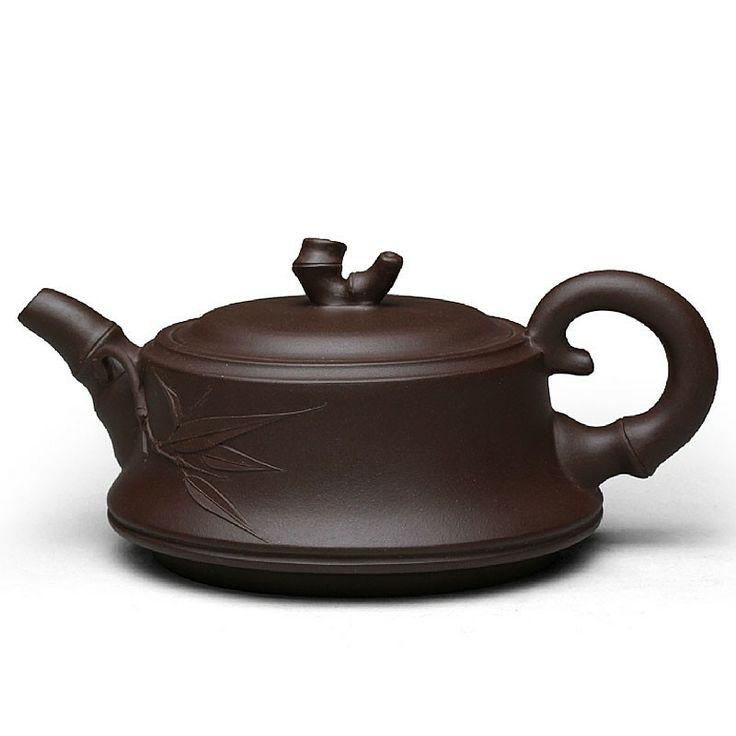 Zi Sha-Purple Clay Tea Pot-250ML-Bamboo Series-B - Tea Pot - Teaware Enjoy / Slow / Green