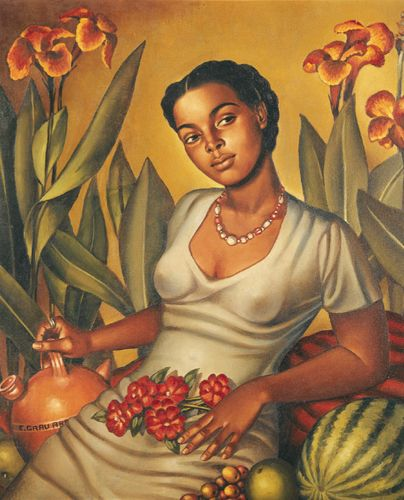 Mulata Cartagenera por Enrique Grau, 1940      Was given this print as a gift from the exhibit at Museo del Barrio. I love it so much!