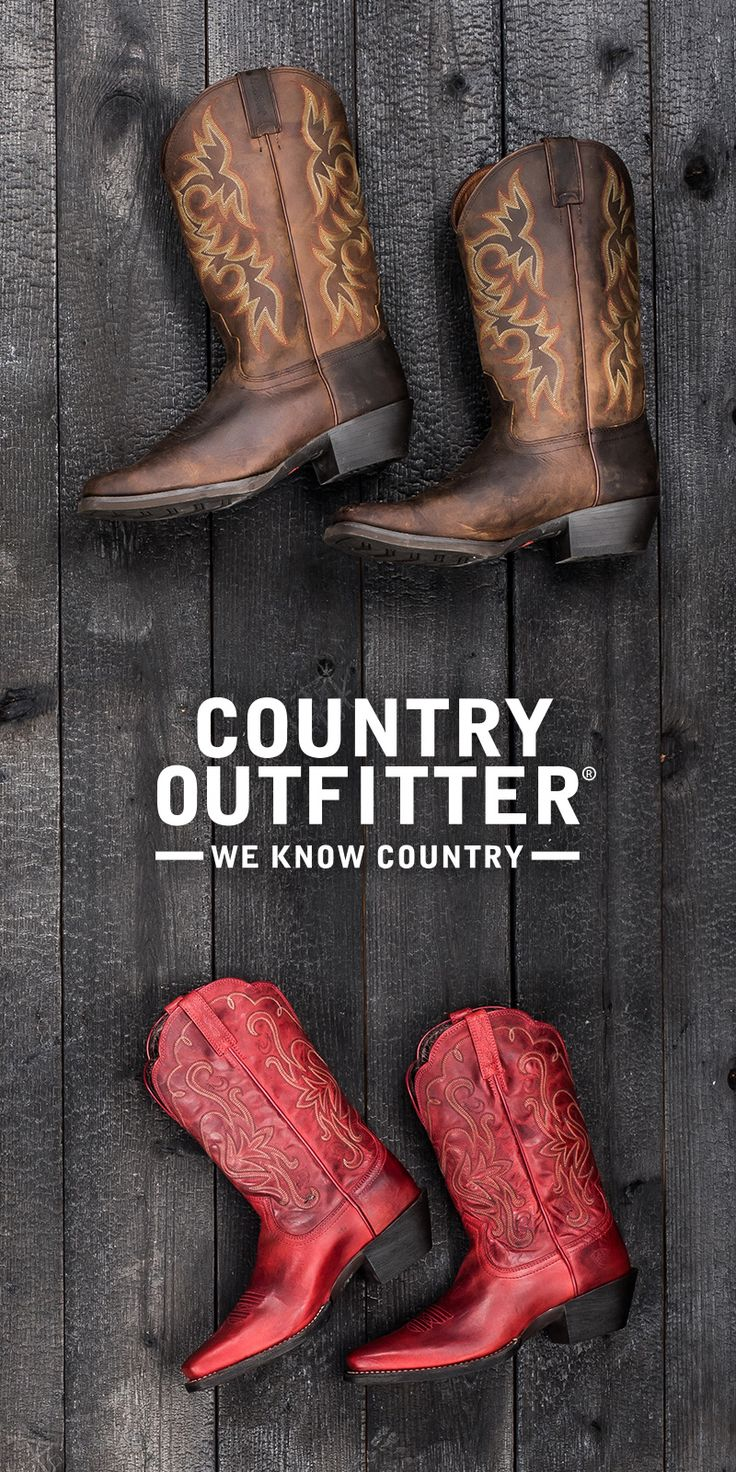 Looking for the perfect pair of boots? Find the latest Corral, Ariat, Justin boots at Country Outfitter. Free shipping and exchanges!