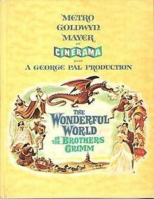 The Wonderful World of the Brothers Grimm    Souvenir program cover //   Directed byHenry Levin  George Pal (fairytales)  Produced byGeorge Pal  Written byDavid P. Harmon  Charles Beaumont  William Roberts  StarringLawrence Harvey  Claire Bloom  Karlheinz Böhm  Barbara Eden  Editing byWalter Thompson  Distributed byMGM/Cinerama  Release date(s)August 7, 1962  Running time135 min  CountryUnited States  LanguageEnglish