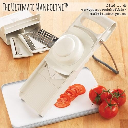 $2.95 at Goodwill....Pampered Chef's Ulitimate Mandolin http://new.pamperedchef.com/pws/734781nikkidean4pc/guest-landing/8868140924059