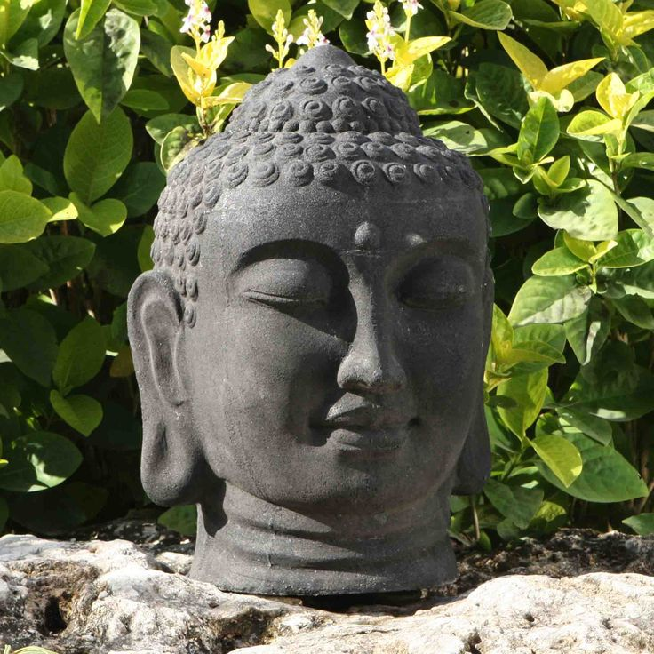 Thai Buddha Head Stone Sculpture Large Garden Statue. Buy now at http://www.statuesandsculptures.co.uk/large-garden-statues-thai-buddha-head-stone-sculpture