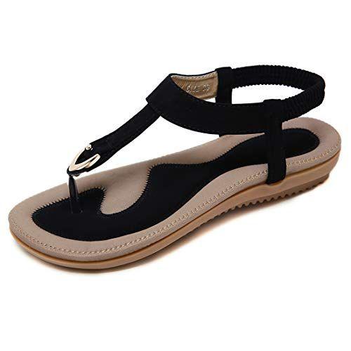 De Ete Femme Sandales Chaussures Plats A Talons Ville Kuonuo Plates kuPXOZi