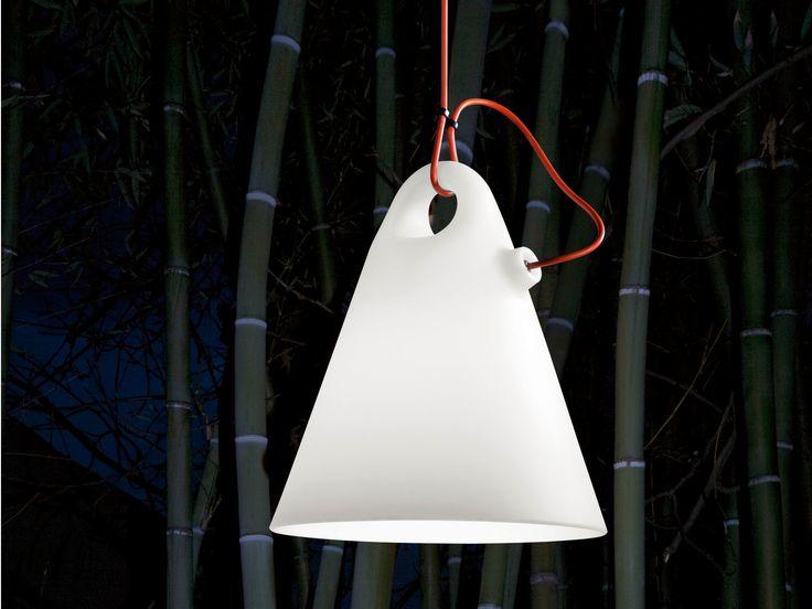Elegant Fluorescent Polyethylene Pendant Lamp TRILLY By Martinelli Luce Design  Emiliana Martinelli
