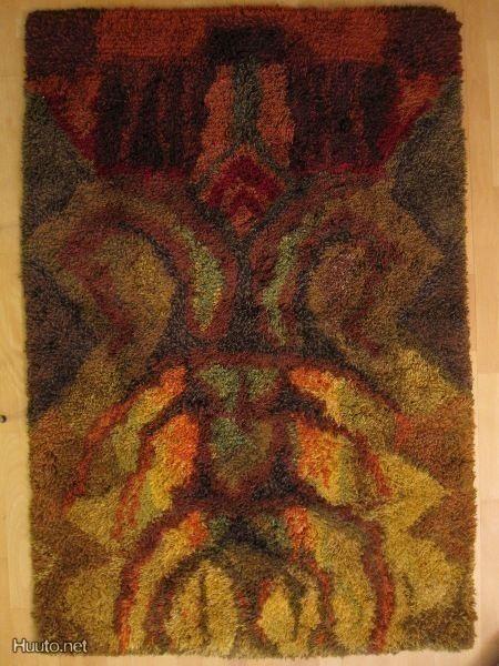 Kaunis Pomona ryijy (Lilli Kollin) 120x160 cm - Huuto.net