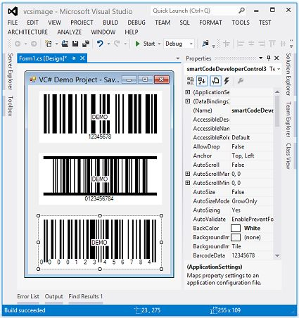 SmartCodeDeveloper is a barcode component library, software development kit and .Net Windows Form Control that allows you to easily add professional quality bar codes to Windows applications
