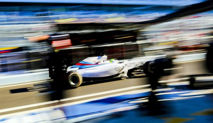 Fórmula Uno: El brasileño Felipe Massa, de Williams, durante los entrenamientos para el Gran Premio de Rusia