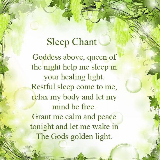 Book of Shadows:  Sleep Chant.
