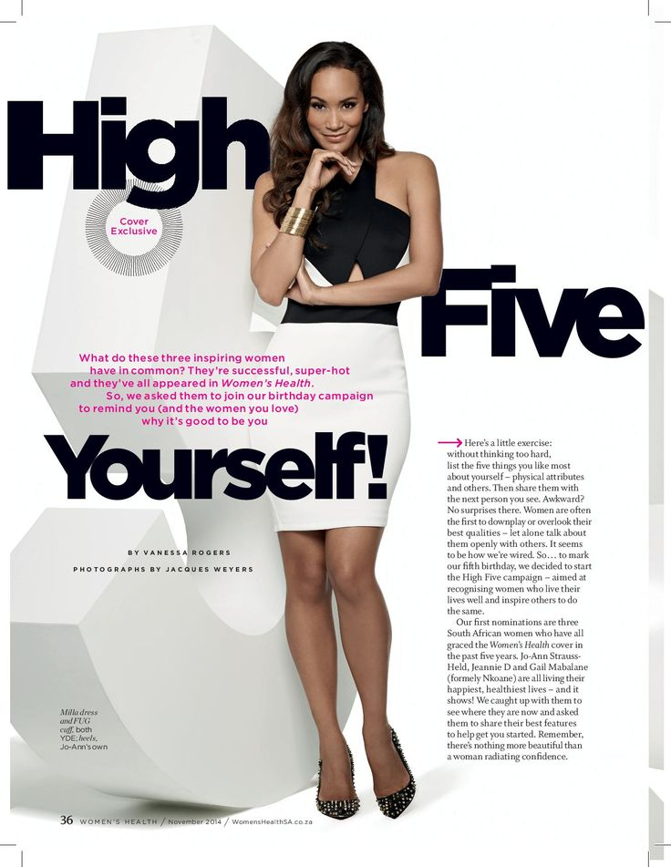 Former Miss South Africa and Phenomal woman, stuns in The latest issue of Womans Health Magazine #5thBirthdayshoot. She also sproting a #FUG cuff Picture courtesy of : http://womenshealthsa.co.za/