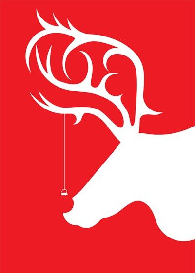 Noel The Reindeer by Chris Prior, via Behance