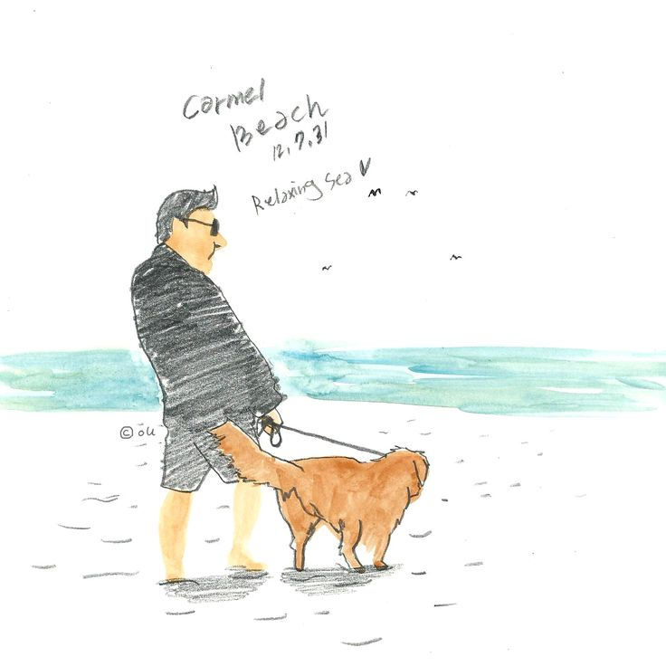 oU' drawing / Carmel beach