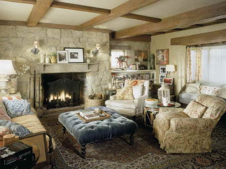 Cottage Living Room With Fireplace 33 best country cottage lounge design images on pinterest
