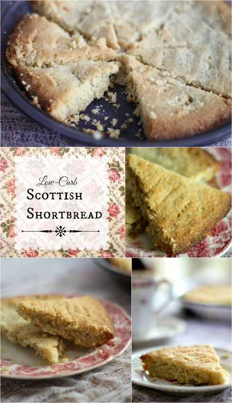 Low Carb Scottish Shortbread cookies are so easy to make and less than 2 net carbs per serving. Gluten free, too! From http://Lowcarb-ology.com
