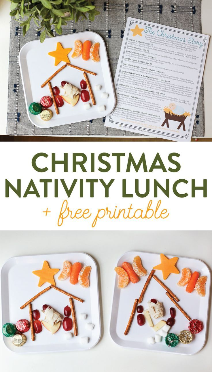 The Christmas Story Nativity Lunch (+ FREE Printable Scriptures to Read Aloud)