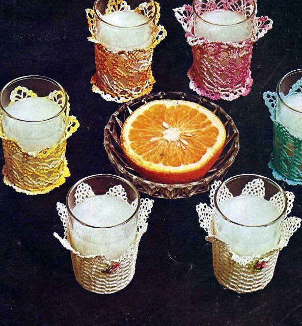 Patrón #998:Fundas para Vasos a Crochet   CTejidas [Crochet y Dos Agujas]