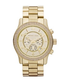 Michael Kors Large Runway Double Glitz Watch, Golden...Add that to the Christmas list!