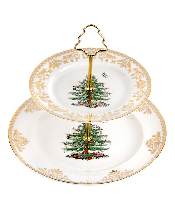 Spode Christmas Tree  Tier Cake Stand
