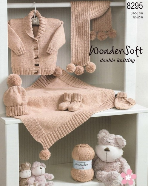 Stylecraft--Jacket, Blanket, Scarf, Hat, Mittens and Bootees