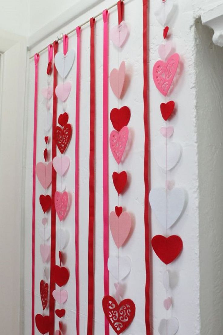 Love Heart Backdrop Tutorial - 15 Lovey-Dovey DIY Valentineu0027s Day  Decorations to Celebrate Love