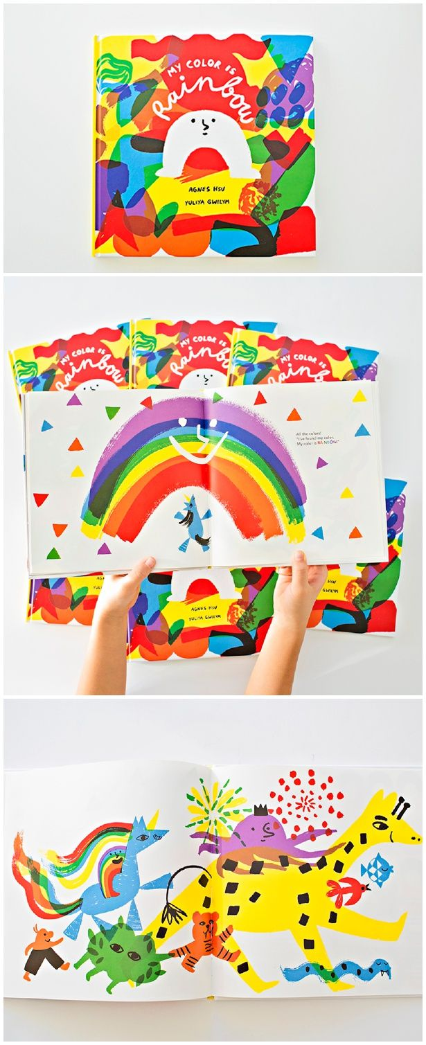 My Color Is Rainbow Book. A colorful, modern and playful children's book on love, kindness and acceptance. A lovely kids book with a kind message.