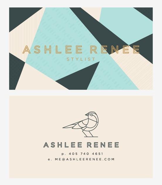 Ashlee Renee geometric cards. #design #branding #identity