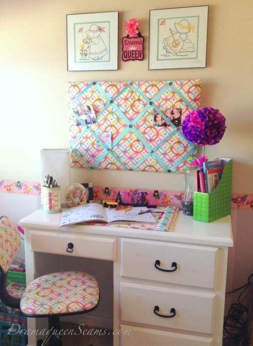These cute diy desk accessories message board blotter for Cute desk