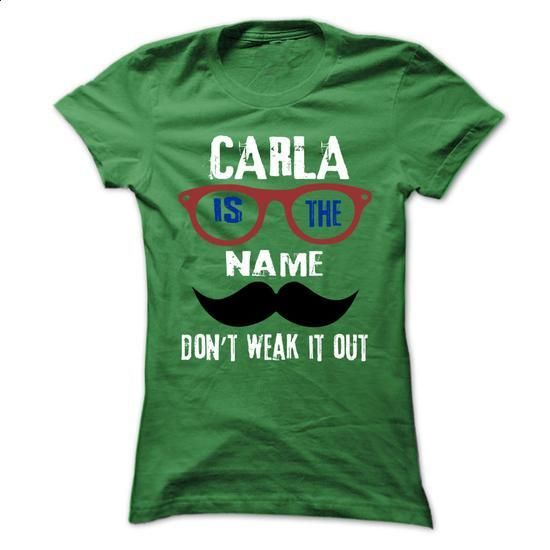 CARLA Is The Name - 999 Cool Name Shirt ! - #denim shirts #cool t shirts for men. MORE INFO => https://www.sunfrog.com/Outdoor/CARLA-Is-The-Name--999-Cool-Name-Shirt-.html?60505
