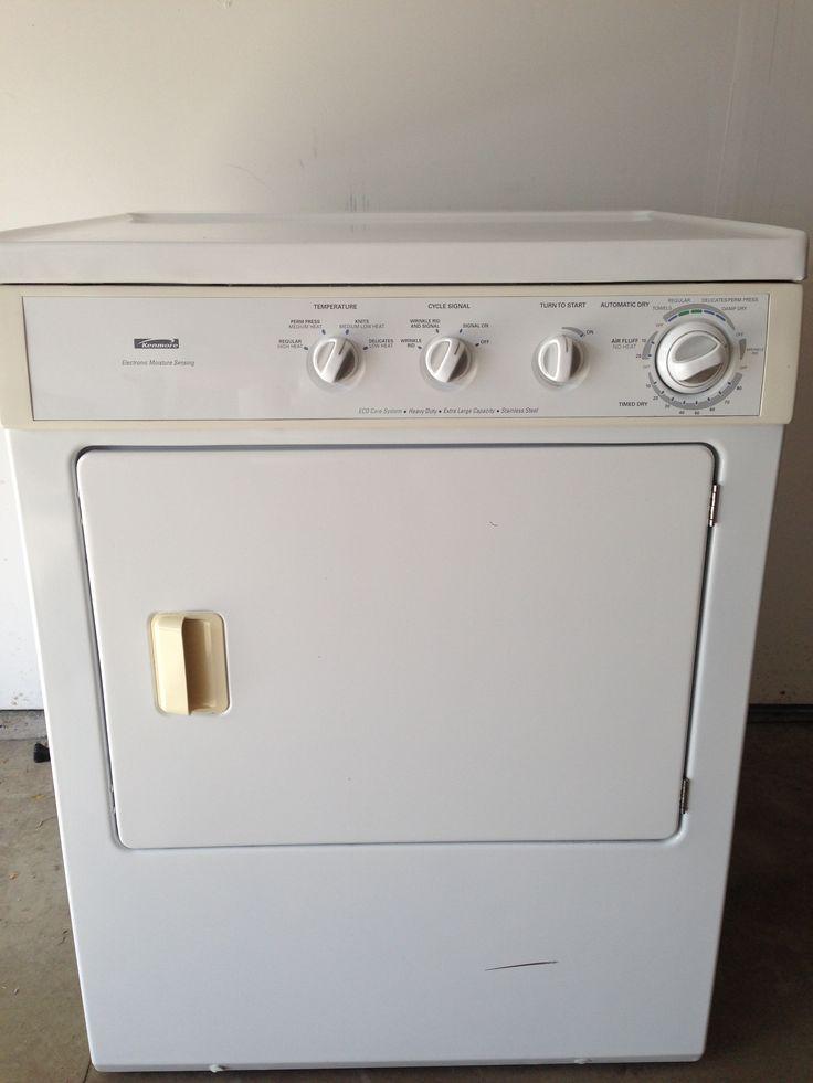 Large Capacity Kenmore Gas Dryer In Gemmajames Garage