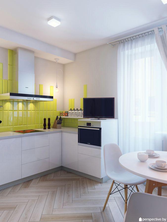 На кухне внимание привлекают потолочные накладные светильники и подвесные небольшие светильники в зоне готовки над столешницей. В санузле мы сделали точечные встроенные светильники и бра, встроенные в зеркало.
