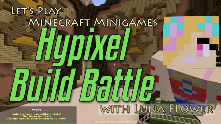 Let's Play Minecraft Minigames - Build Battles on Hypixel