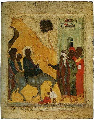 The Entry into Jerusalem, Andrei Rublev