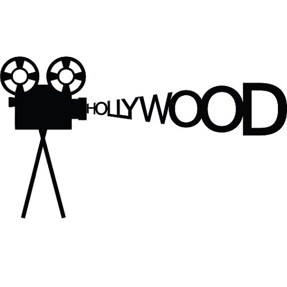 Hollywood  Wall Sticker Tattoo  Vinyl Decal by seeyou276 on Etsy, $17.00