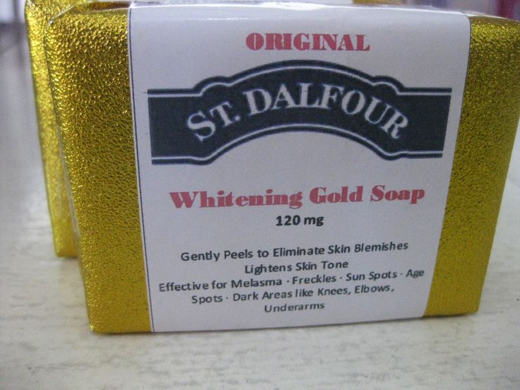 ORIGINAL St. Dalfour Whitening Gold Soap 120 mg  Gently Peels to Eliminate Skin Blemishes Lightens Skin Tone Effective for Melasma  * Freckles * Sun Spots * Age Spots * Dark Areas like: Knees, Elbows, Underarms  FOR ORDERS/INQUIRIES! Pls send us Private Message :) Click the link below.. https://www.facebook.com/messages/DiamondSkinCompany