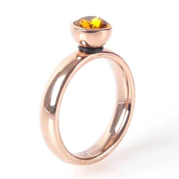 De rose ringen van MelanO zijn echt prachtig. Wil je eens afwisselen? Koop dan een ander opzetstukje, want deze kun je gewoon verwisselen!