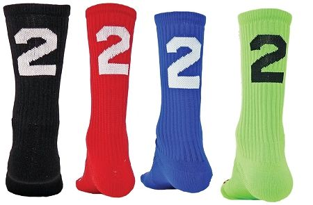 Red Lion Solid Numbers Crew Socks. Wear your team number on your socks great for basketball, volleyball and lacrosse shop www.awesome-sports.com