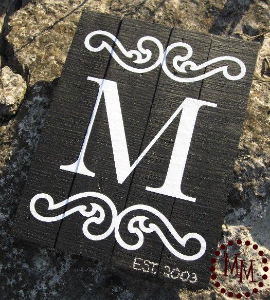 make a Monogram Sign