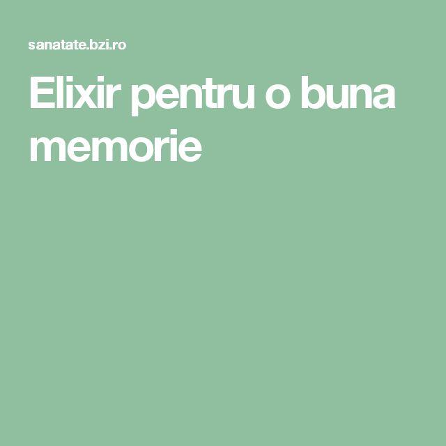 Elixir pentru o buna memorie