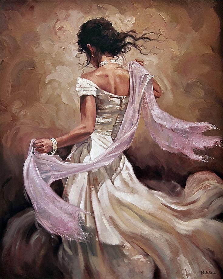 Mark Spain, 1962   Figurative painter   Flamenco Dancers   Tutt'Art@   Pittura • Scultura • Poesia • Musica