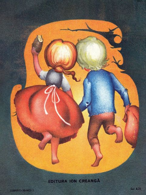Hansel and Gretel, Grimm, Illustrations Adriana Mihailescu, 1989