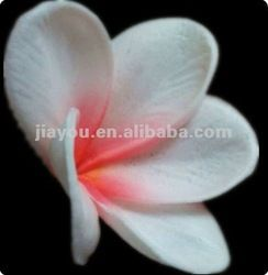 artificial PU flower real touch flower plumeria