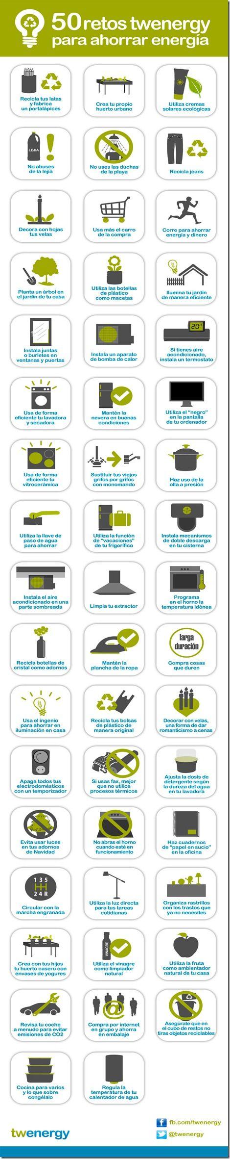 vida saludable sostenibilidad reciclaje medio ambiente renovables destacados  Infografía: 50 retos para ahorra energía