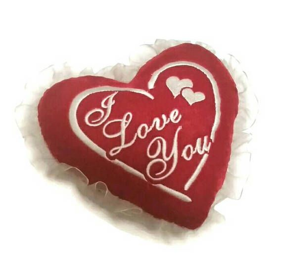 Check out this item in my Etsy shop https://www.etsy.com/ca/listing/587795295/vintage-heart-shape-pillow-i-love-you