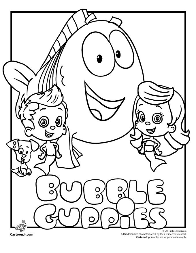 It is a graphic of Agile Bubble Guppies Printable Coloring Pages