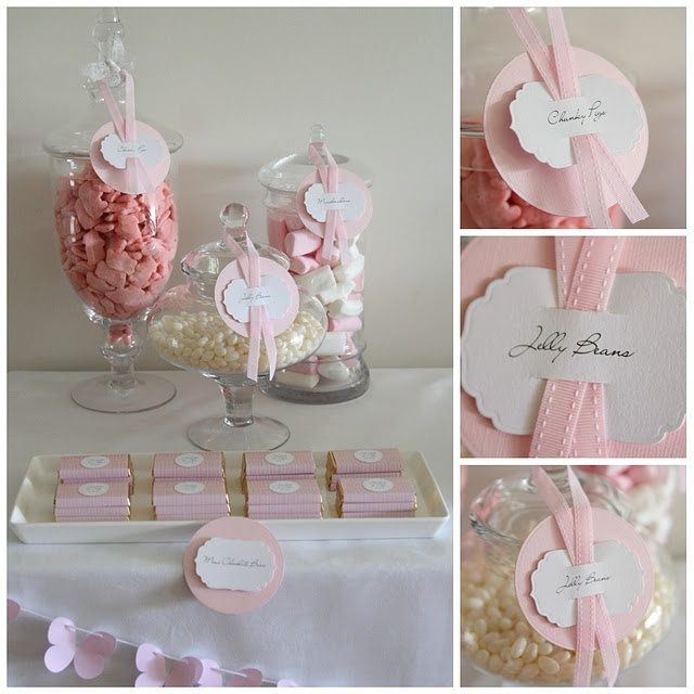 love the butterfly garland at bottom of Christening Table
