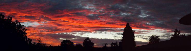 Rotorua Sunset NZ. By Christy-Lynn Breetvelt